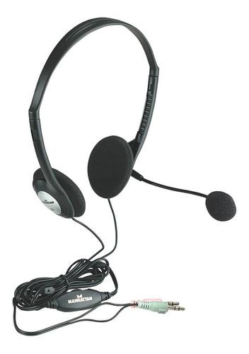 audífonos manhattan micrófono y control de volumen