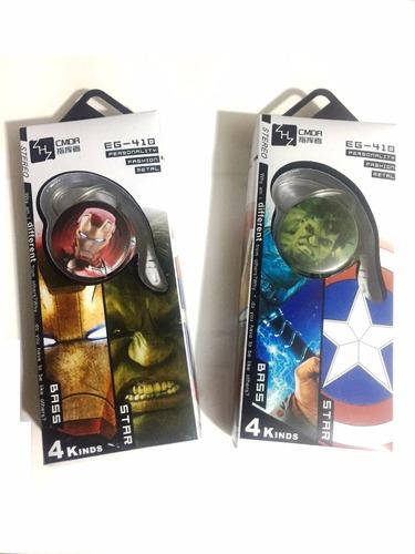 audifonos manos libres con contestador diseño avengers