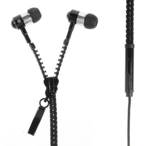 audifonos manos libres forma de zipper cierre plug 3.5 caja