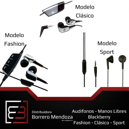 audifonos manos libres genericos blackberry fashion