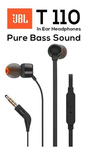 audífonos manos libres jbl t110 negro
