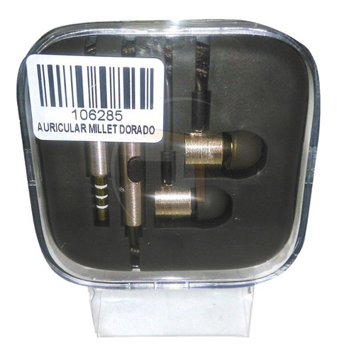 audifonos manos libres plus 3.5mm millet dorado