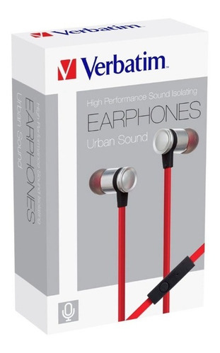 audifonos manos libres rojo/plateado verbatim 99210