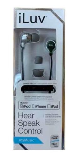 audífonos marca iluv con control de volumen originales.