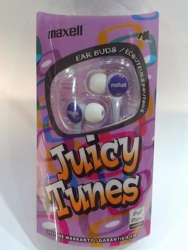 audífonos maxell juicy tunes