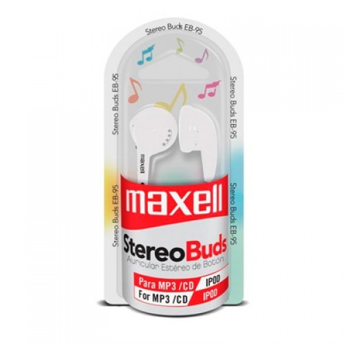 audifonos maxell stereo buds deportivos mp3 cd ipod original