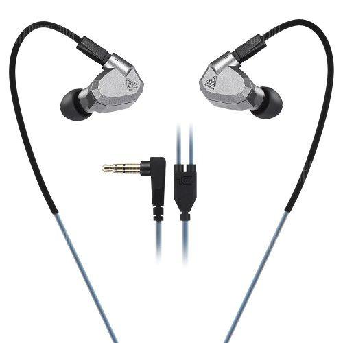 audífonos originales kz zs5 micro + cable plata + bluetooth