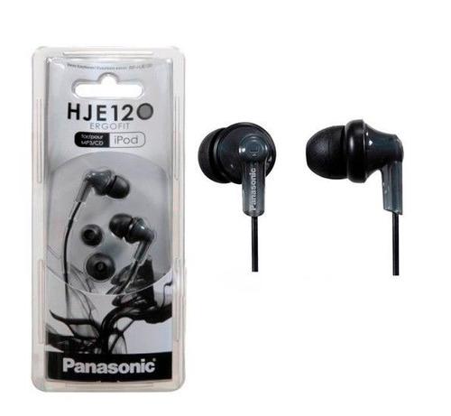 audifonos panasonic ergofit hje120 negro nuevo