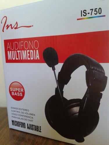 audifonos para pc, laptop con microfono de cuero !nuevos!
