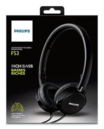 audifonos philips fs3bk on rich bass fs3 black