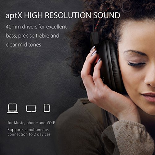 audífonos plegables avantree 40 horas wireless bluetooth 4.