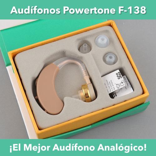 audífonos powertone f-138 hipoacúsia leve a moderada (sordo)