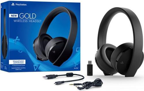 audífonos ps4  sony gold wireless headset ps4, nueva version