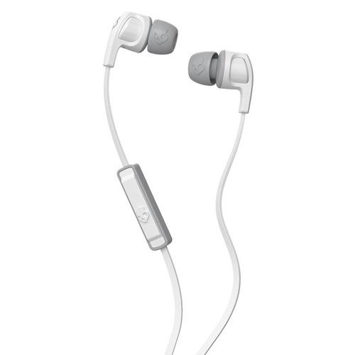 audifonos skullcandy smokin buds 2 microfono blanco/gris