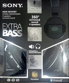 Audifonos Sony Extra Bass Bluetooth Mdr-xb360bt Stereo