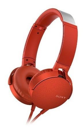 audífonos sony  extra bass xb550ap rojo