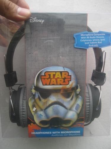 audífonos star wars guerra de las galaxias con micro sakar