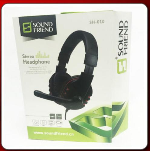 audifonos stereo con microfono sound friend 3.5 gamer pc