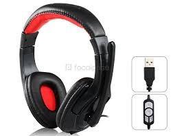 audifonos stereo con microfono  usb gamer pc sa