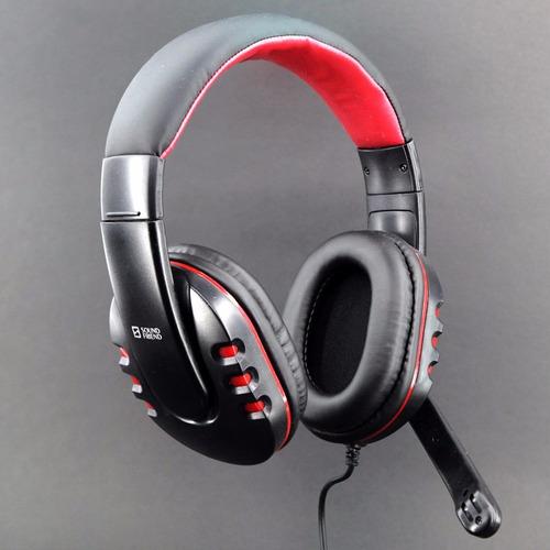 audifonos stereo con microfonosound friend 3.5 gamer pc sa
