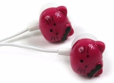 audífonos stereo hello kitty 3.5mm varios colores