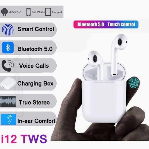 audífonos táctil i12 touch tws airpods bluetooth manos libre