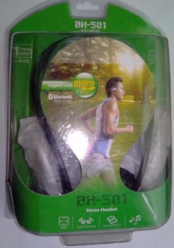 audifonos vincha bluetooh bh-501 con micro sd