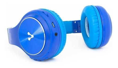 audifonos vorago hpb-300 bluetooth con micrófono 3.5 azul