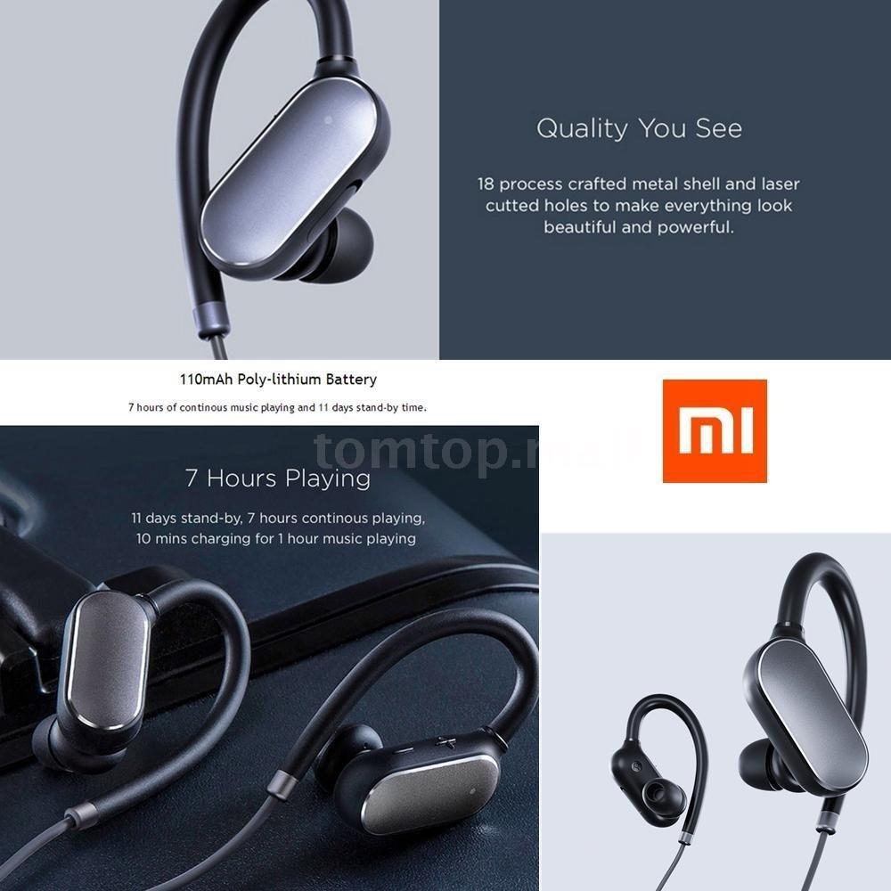 Audifonos Xiaomi Mi Sport Bluetooth 100 Original Nuevo S 9999 Wireless Headset Earphone Headphone Cargando Zoom
