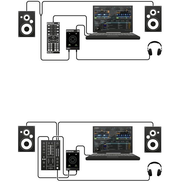 audio 2 dj interface profesional usb incluye traktor full