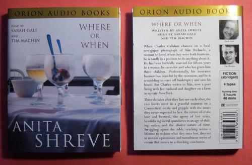 audio books where or when by anita shreve