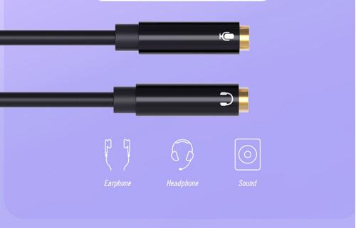 áudio divisor cabo 3.5mm 1 macho para 2 fêmea fone de ouvido