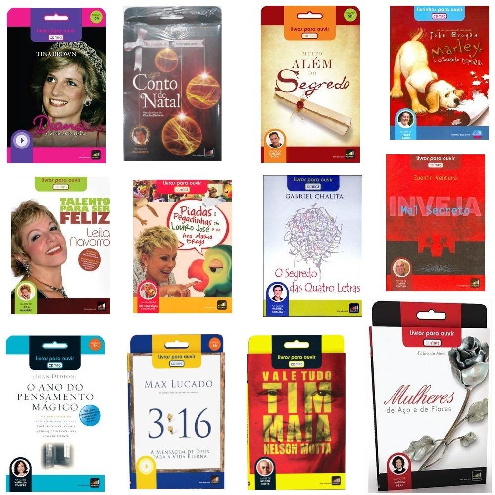 6125191d6af Áudio Livro Em Mp3 - 12 Livros - Oportunidade Única - R  238