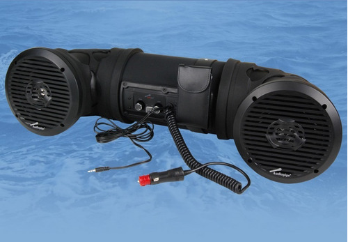 audio para cuatriciclos y lanchas audiopipe 100 watt rms