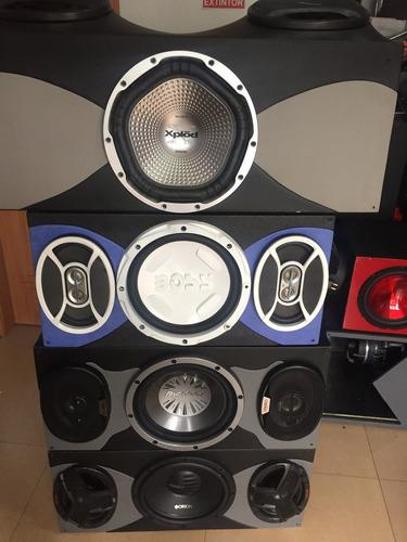 audio parlantes bajo potencia caja carro usb dvd bluetooth