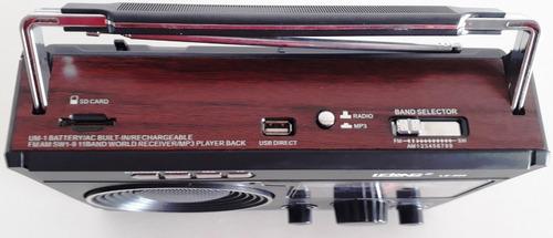 áudio portátil radio