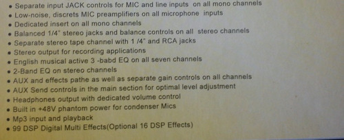 audio profesional consola