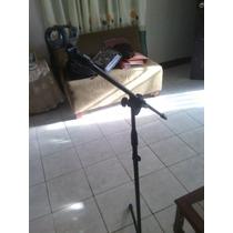 2 Parales Para Microfonos Uno Tipo Jirafa Y Otro Recto
