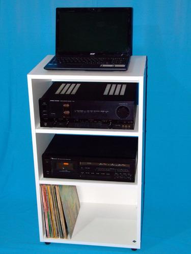 audio rack para tornamesa amplificador ecualizador discos