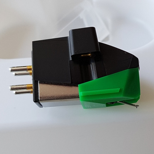 audio technica at-vm95e verde agulha + cápsula original