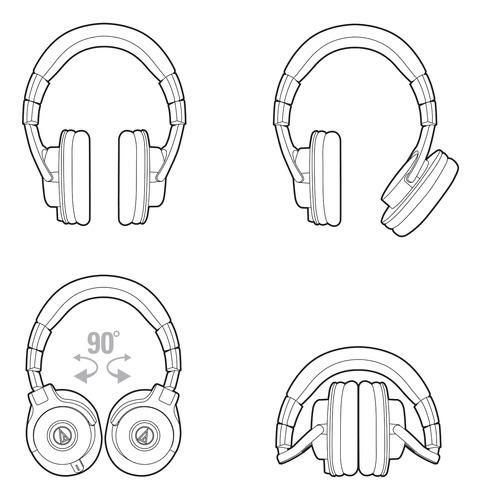 audio technica ath m40x auriculares estudio profesionales dj