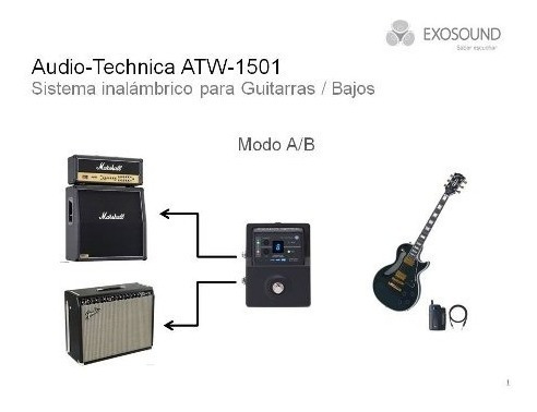 audio technica atw-1501 inalambrico guitarra bajo