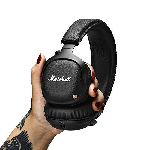 audio video marshall mid auricular bluetooth negro amz