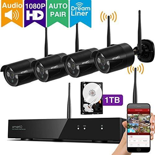 audio y video xmarto 4ch 1080p full hd sistema de cámara de