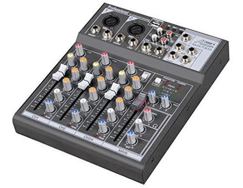 audio2000 s amx7303 mezclador profesional de cuatro canales