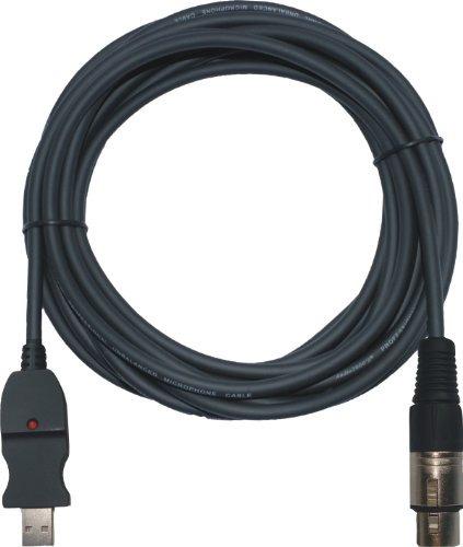 audio2000 usb a xlr cable de grabación hembra