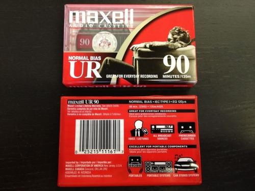 audiocassettes maxell normal bias ur 90 minutos de 2ª mano