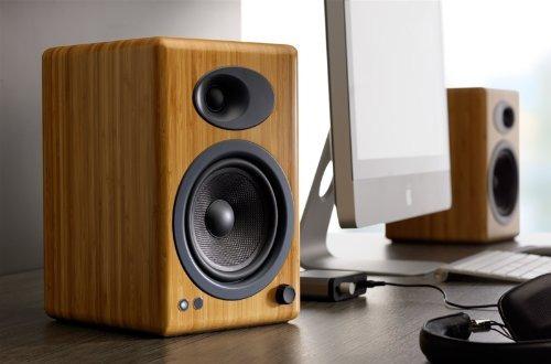 audioengine a5 + premium powered speaker pair (carbonizado s