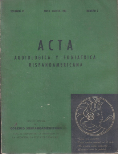 audiológica y foniátrica hispanoamericana / 1964