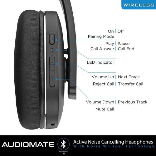audiomate btnc152 cancelación activa de ruido bluetooth inal